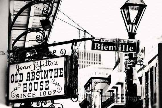 New orleans art sign photography french quarter jean lafitte