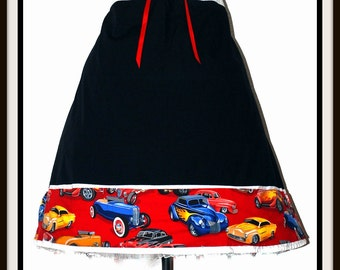 Retro Classic Hot Rod Cars Rockabilly Pin Up Girl Skirt...Size XXL Plus