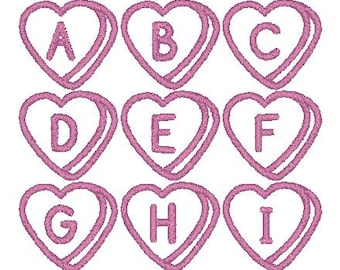 PES ONLY Sweetheart Font Machine Embroidery Monogram Set 4x4 Hoop