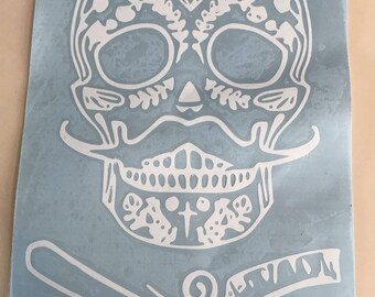 Sugar Skull Barber decal