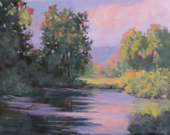 In Another Light - original colorful landscape painting