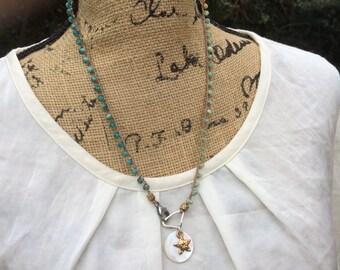 Bronze Star charm necklace