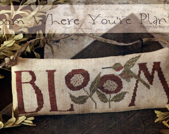 With Thy Needle & Thread: Bloom Where You're Planted - Cross Stitch Pattern