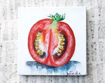 Southern Home Decor: Tomato Oil Painting, Kitchen Art