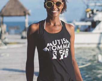 Autism Shirt, Autism Tank Top Autism Awareness Autism Momma Bear Mama Bear
