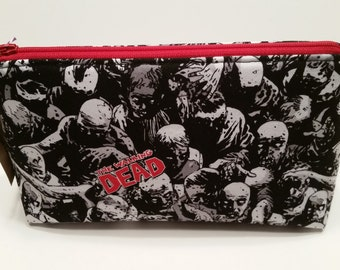 The Walking Dead Zombies Makeup Cosmetic Bag