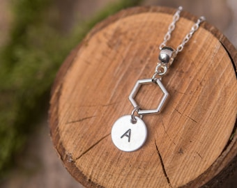 Personalized necklace, silver necklace, initial necklace, custom letter necklace, personalized necklace, gift for her, gift for women