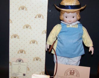 Memories of Yesterday. Mabel Lucie Attwell. Porcelain Doll. Hilary. Limited Edition. 376019. 1989.