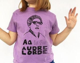 Feminist Kids Shirt; AUDRE LORDE T-Shirt & Screen print // Kids Gift Set