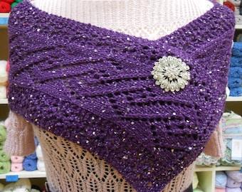 Lace Knit Wrap / Scarf knitting pattern PDF