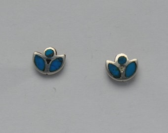 Turquoise earrings and sterling silver