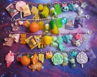 Mixed Rainbow Charm Bracelet