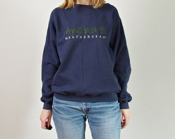 Vtg Timberland Weathergear distressed oversized unisex embroidered sweatshirt