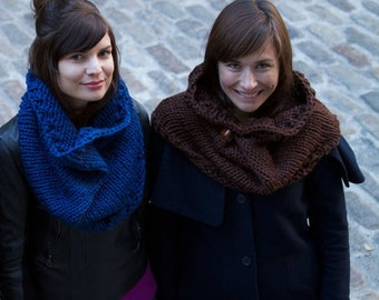 Easy Beginner Knitting Pattern Cowl Infinity Scarf
