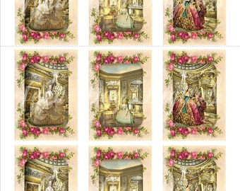 Tags Marie Antoinette French - French Collage - scanned images Printable Instant Digital Download Tf003
