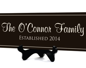 Personalized Family Established Sign Family Last Name Sign 7x20