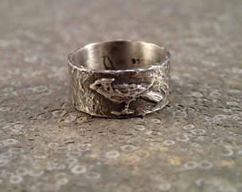 Cardinal bird ring - handmade art jewelry