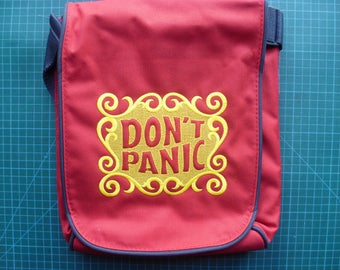 Don't Panic Bag Tablet Bag Tablet Ipad case padded compartment inspirational quote slogan Hitchhikers guide to the galaxy