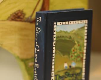 Custom Wooden small keepsake Handpainted Book adoption/birth story favorite children's book