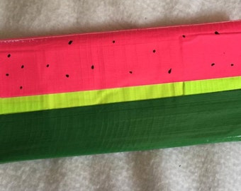 Honey Adorable Watermelon duck tape clutch