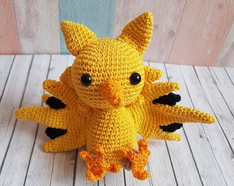 Amigurumi Pokemon Zapdos inspired  versandfertig / made to order