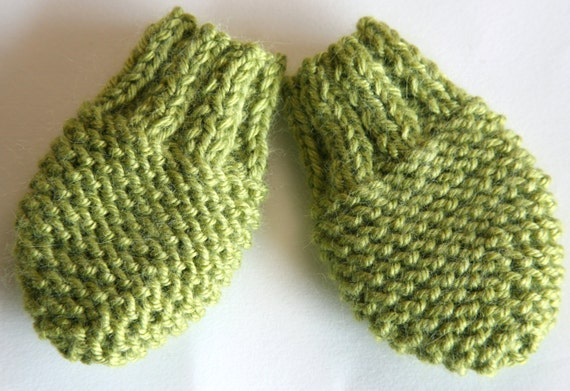 KNITTING PATTERN baby mittens - newborn, baby girl, baby boy (0-3, 3 ...