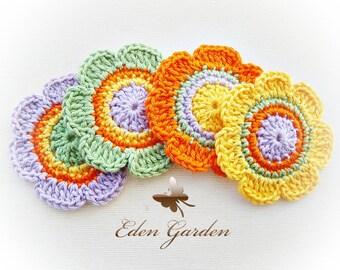 Crochet Flowers ref: X144(4 flowers)