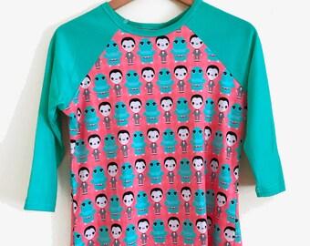 Pee Wee Herman and Chairry 3/4 Sleeve Raglan Shirt - Size S-3X