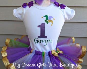 Mardi gras tutu outfit, Mardi gras clothing set, Mardi gras costume, Mardi gras tutu for girls, Mardi gras set for baby, Mardi gras birthday