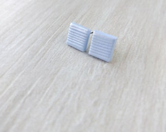 Blue pastel ear studs, harajuku earrings, kawaii jewelry, cute studs, simple earrings, square earring post, tiny fairy kei earrings