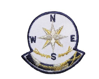 """2""""x2"""" Iron on Embroidered Patch Sailor Marine Nautical sold by 2 pieces BB143"""