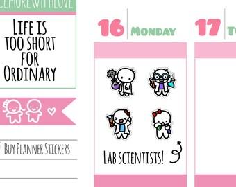 Munchkins - Mad Scientist Lab Time Planner Stickers (M229)