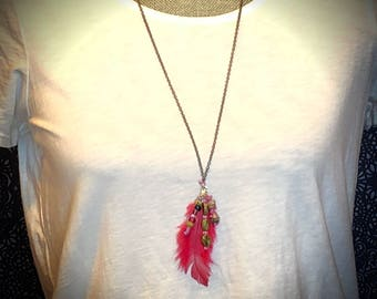 Bohemian Feather & Beads