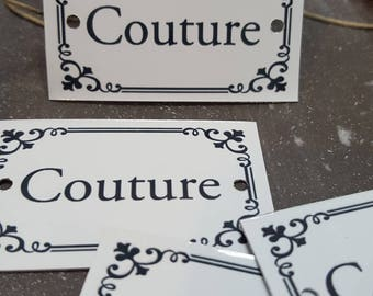 """""""Couture"""" metal plate"""