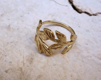 Leaves Ring Leaf Ring Gift for Her Solid Gold Ring wedding Ring Gold Wedding Ring Wedding Band fine jewelry bridal gioielli engagement ring