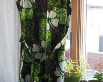 "Vintage maxi length lounge dress - Size 14 - ""Grant's Fashions"" - circa 1970's"