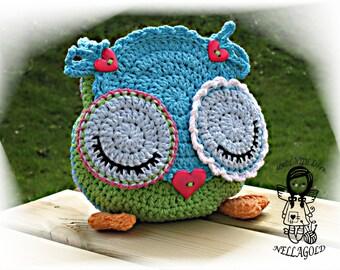 Crochet PATTERN, Handbag Owl LOVE, Purse, Bag, DIY Pattern 170, Instant Download