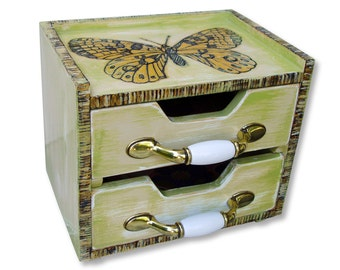 Butterfly Box -  Wood Burning and Painting