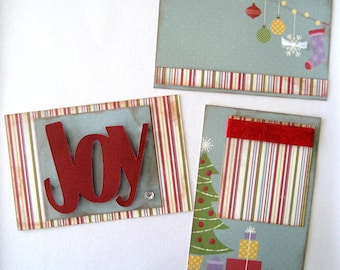 4x6 Title and Journaling Kit Project Life Christmas Holiday Premade Scrapbooking Layout Page