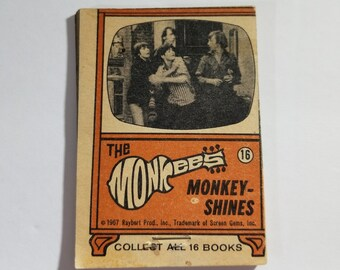 The Monkees 1967 TOPPS Flip Book #16 Monkey Shines Davy Jones Micky Dolenz, Michael Nesmith, and Peter Tork Hey Hey Raybert Productions