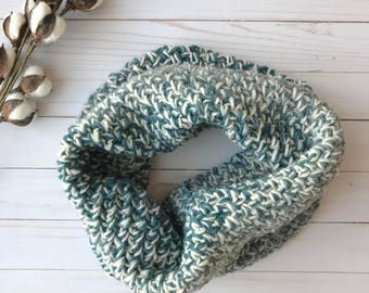 Snow Day Cowl, Blue and Grey