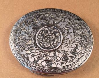 Vintage G Laffi Sterling Compact