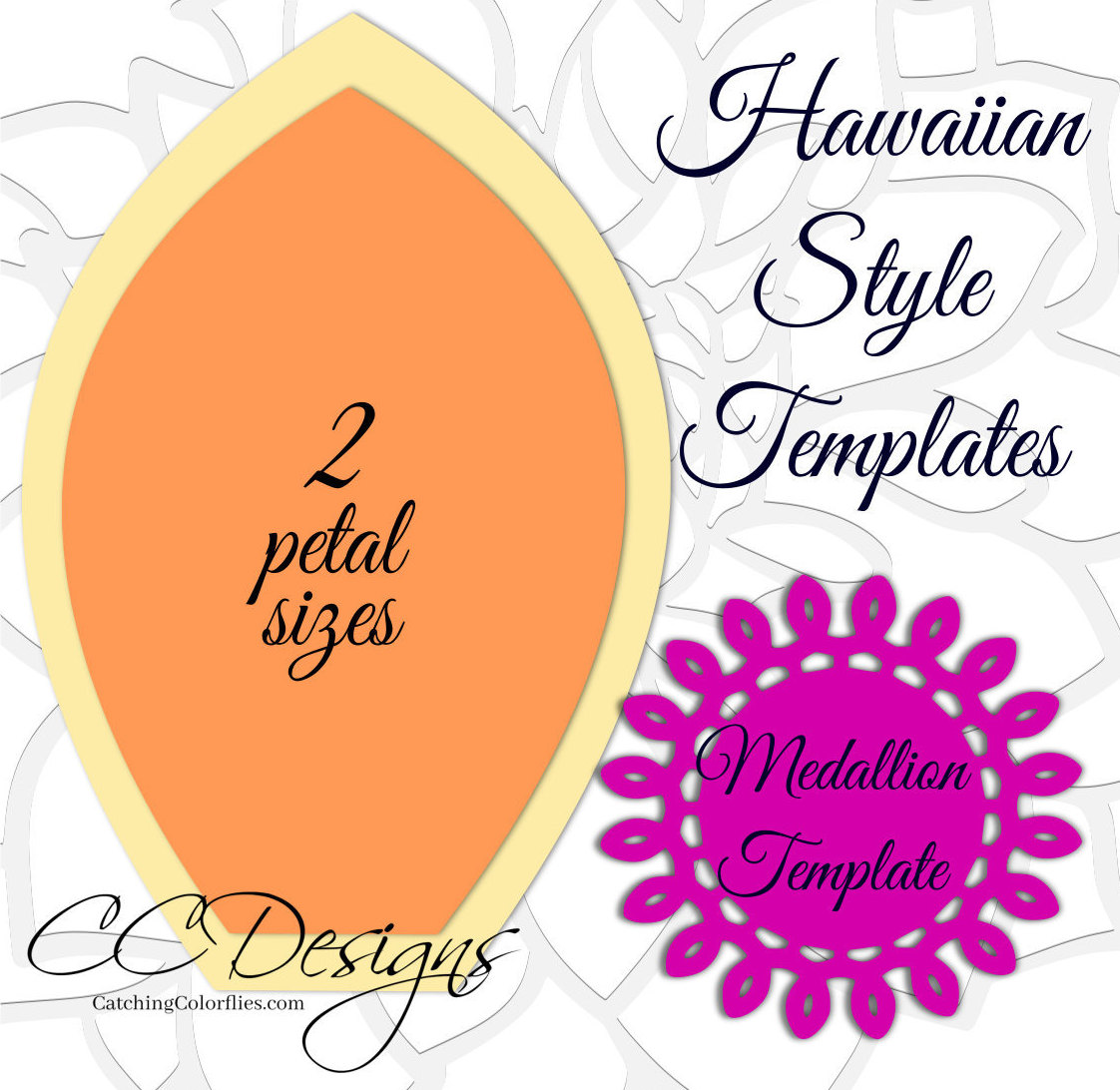 Giant hawaiian paper flower templates tutorial paper flower svg this is a digital file izmirmasajfo Gallery