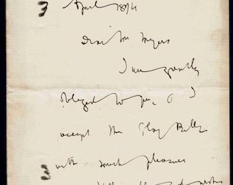 Bram Stoker : Author  Dracula  Autograph Letter Signed