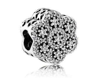 Authentic Pandora Crystalized Floral Charm # 791998CZ