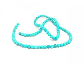 92 round Turquoise beads 4mm natural