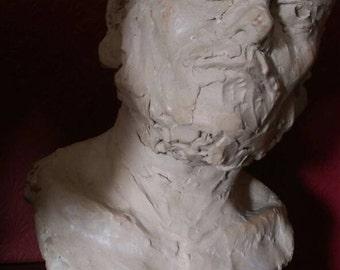Male portrait sculpture by Adam Rush