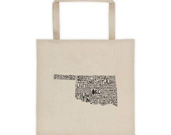 Oklahoma Cities and Towns Grocery Tote Bag