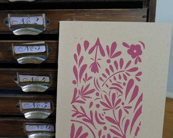 Hand printed lino notebook