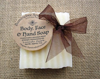 Organic Body, Face & Hand Soap - with 100% Grass-fed Tallow